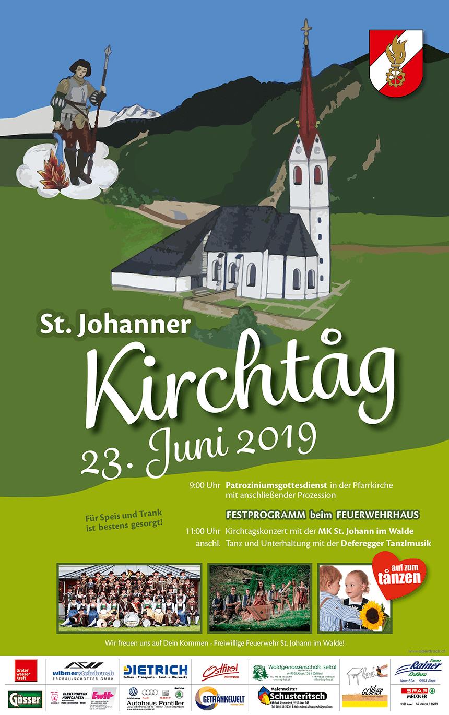 Kirchtagsinformation St. Johann 2019